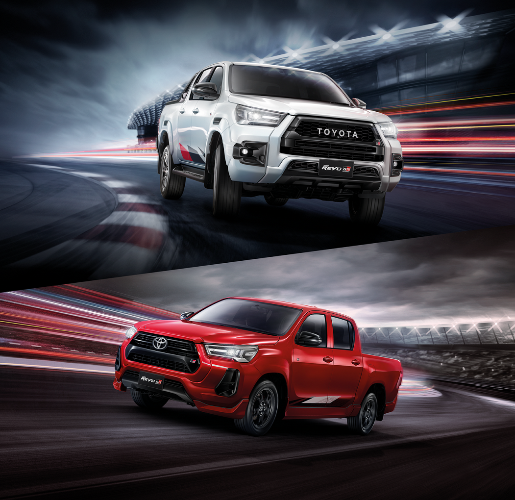 Toyota Hilux Revo GR Sport  First Asia Debut in Thailand  Introducing the globally popular pickup truck with a touch of sports car-style, developed by Thai engineers